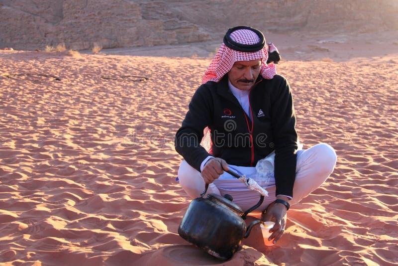 beduin jordan royaltyfria foton