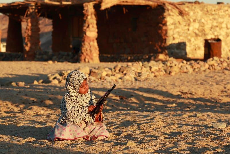 Beduinflicka arkivbild
