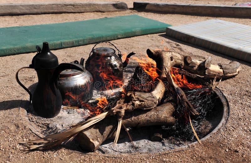 Beduinisches Feuer lizenzfreie stockfotos