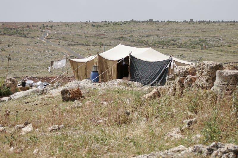 Beduinisches Haus, Syrien lizenzfreie stockfotos