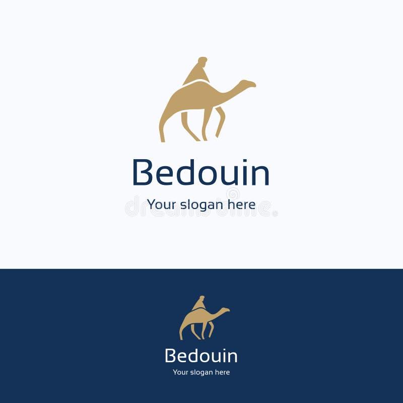 Beduino en logotipo del camello libre illustration