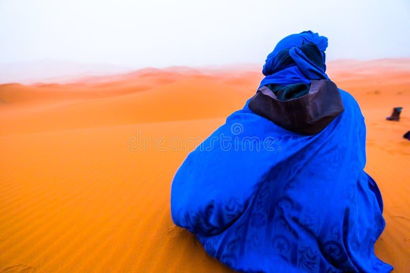 Beduino en Sahrawi imagen de archivo