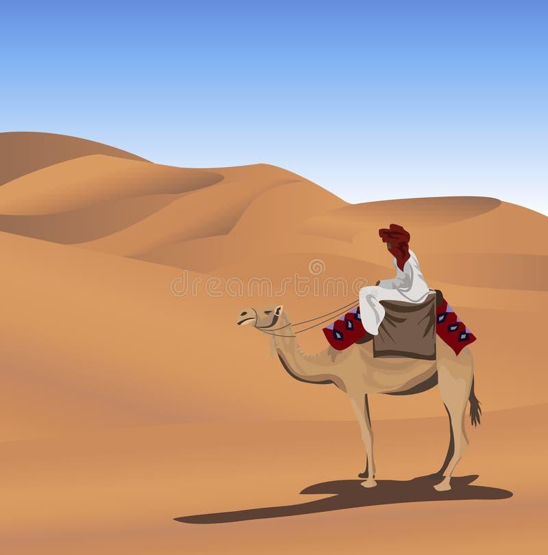 Beduino y camello stock de ilustración