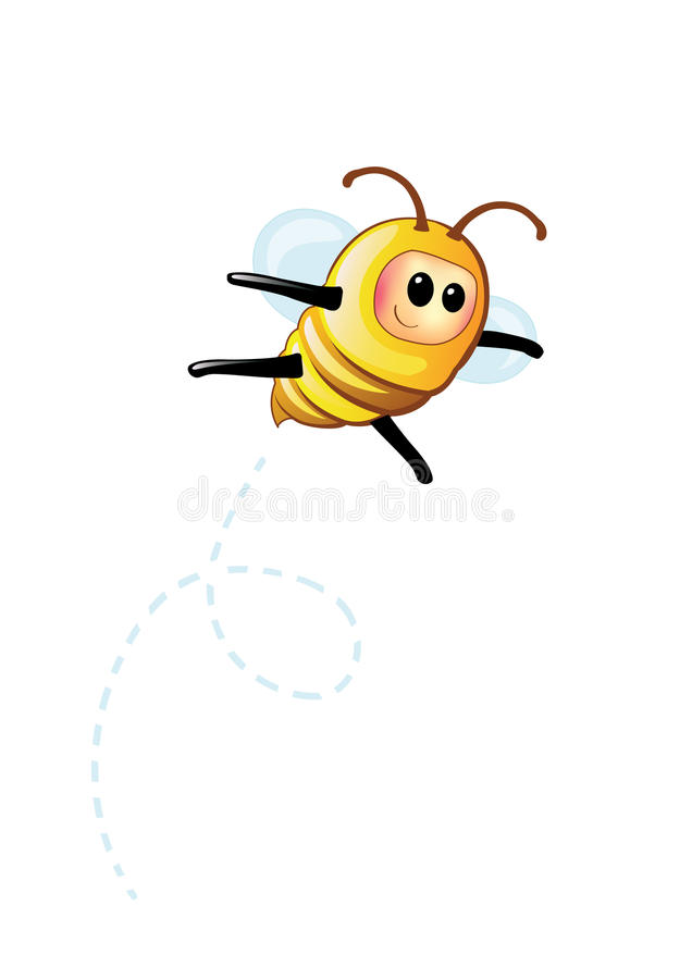 Download Bee stock vector. Image of isolated, nature, humor, lovely - 10921803