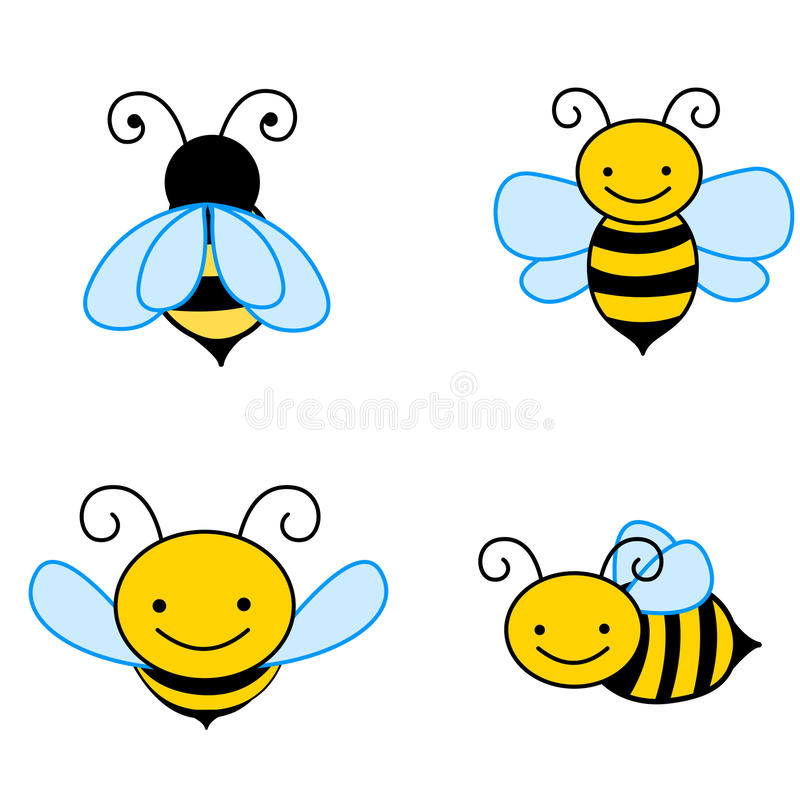 Bee. An illustration of a cute bees isolated on white background