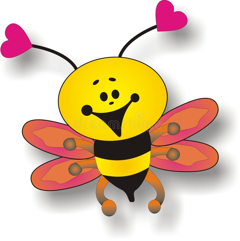Bee. Happy bee, also a vector file vector illustration