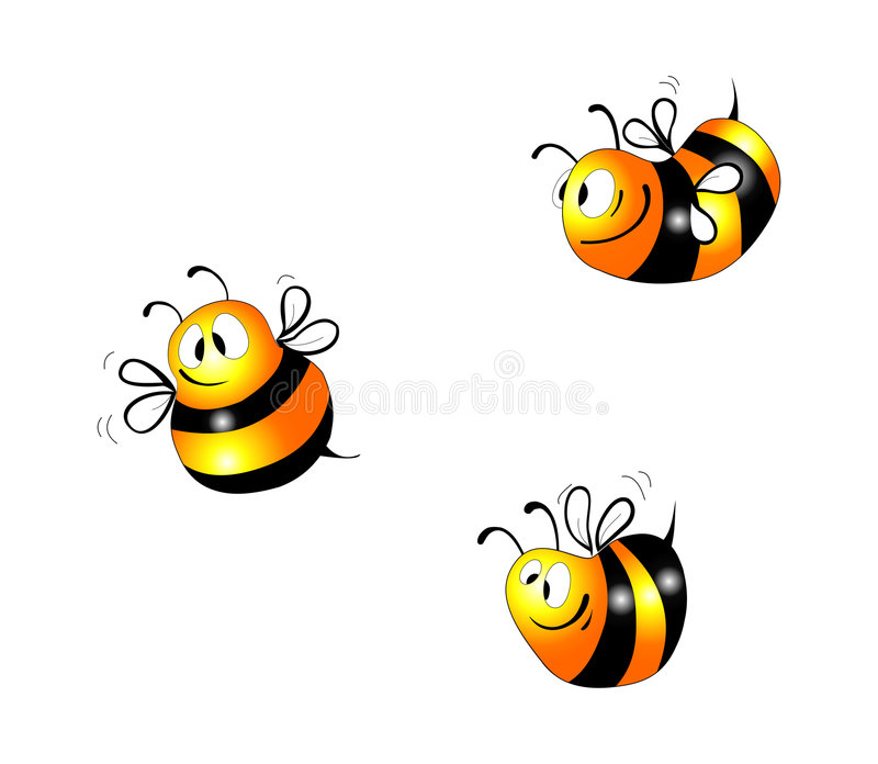 Download Bee stock vector. Image of smiling, illustrated, insect - 6654350