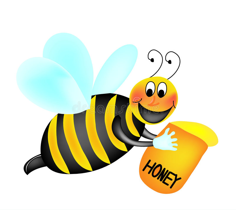 Download Bee stock vector. Image of graphics, smiling, cute, vectors - 7265329