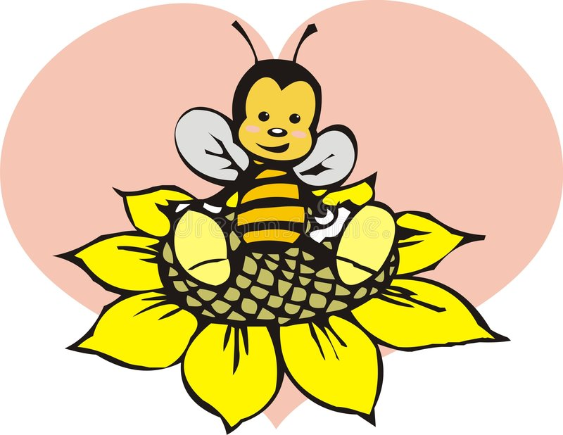 Download Bee stock illustration. Image of beehive, cute, life, heart - 7979209