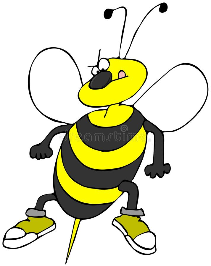 Download Bee attack stock illustration. Image of attack, wings - 25361037