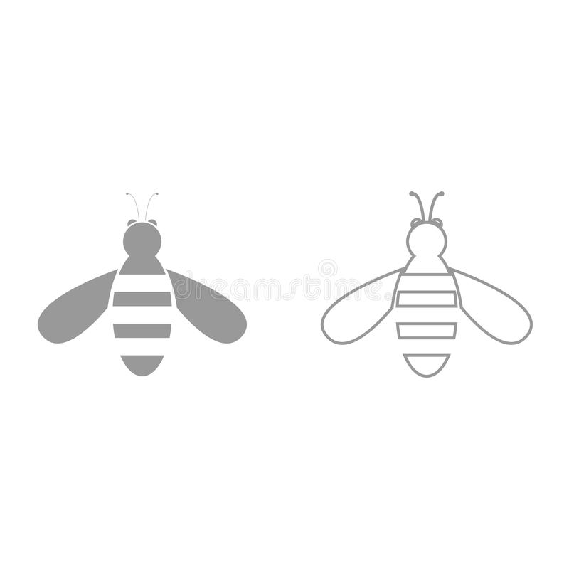 Bee it is black icon . royalty free illustration