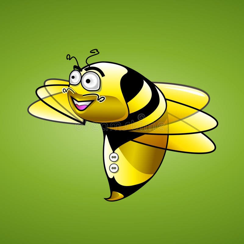 Bee Character illustration stock image