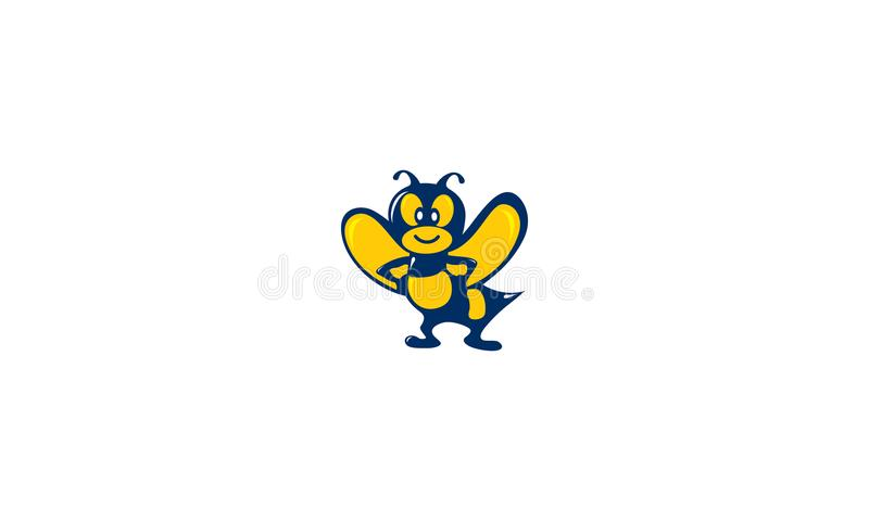 Bee characters vector logo vector illustration