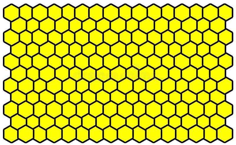 Comp bee yellow. Bee comp yellow hexagon vector illustration
