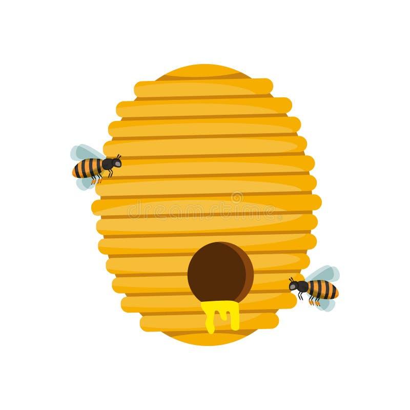 Bee hive vector illustration. royalty free illustration