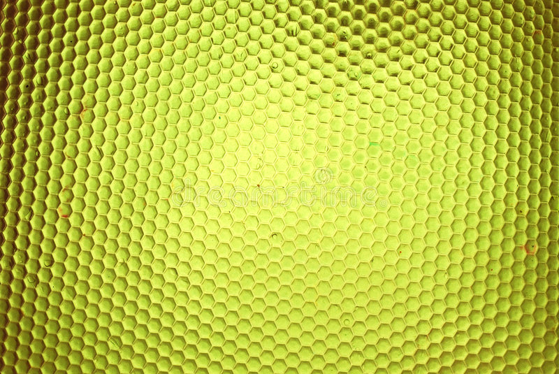 Bee hive in yellow stock image