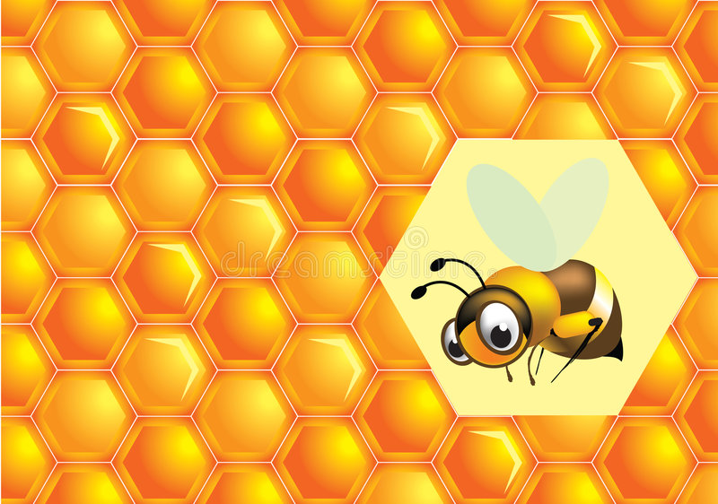 Download Bee and honey stock vector. Image of painting, eating - 8171343
