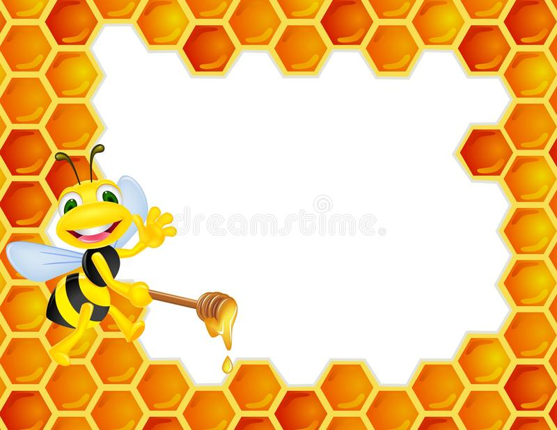Download Bee with honeycomb stock vector. Illustration of background - 22904530