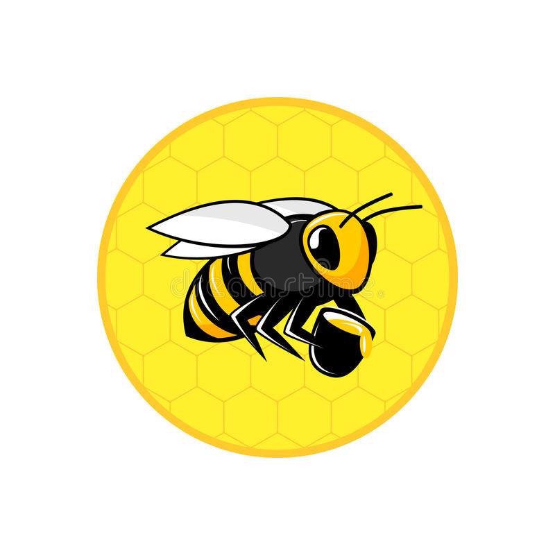 Bee honeycomb icon vector illustration