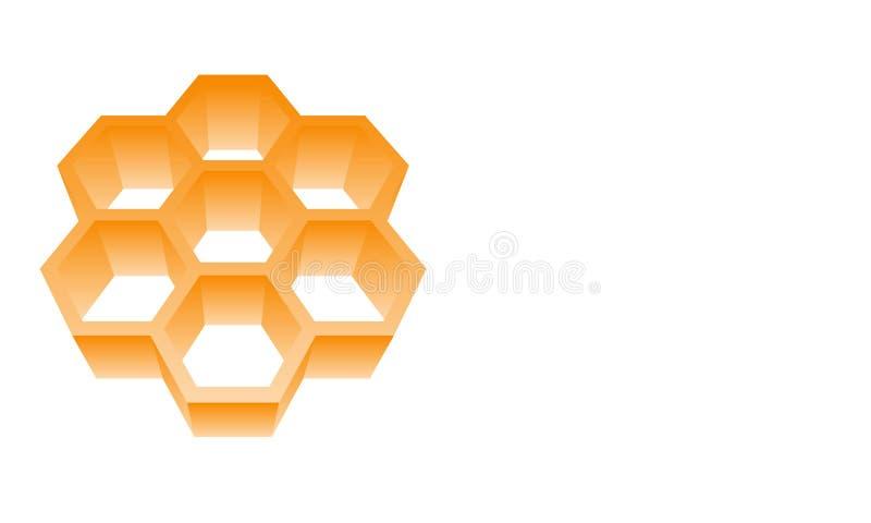 Bee honeycomb logo vector illustration