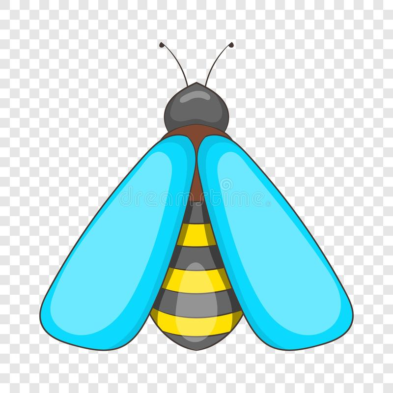 Bee icon, cartoon style royalty free illustration