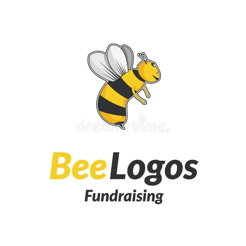 Bee Icon Logo Vector stock image