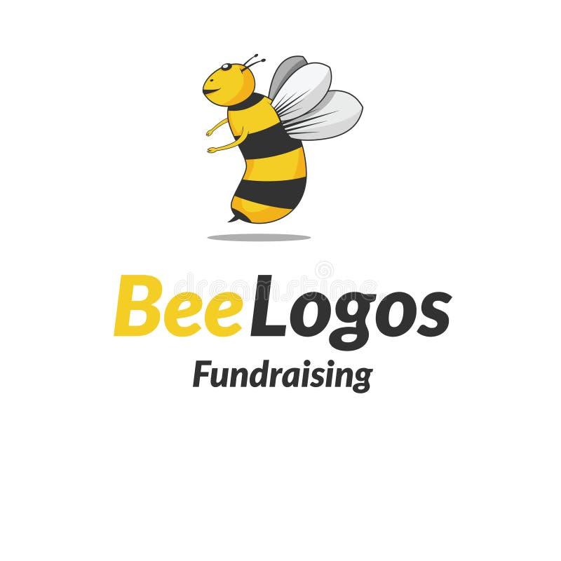 Bee Icon Logo Vector stock photo
