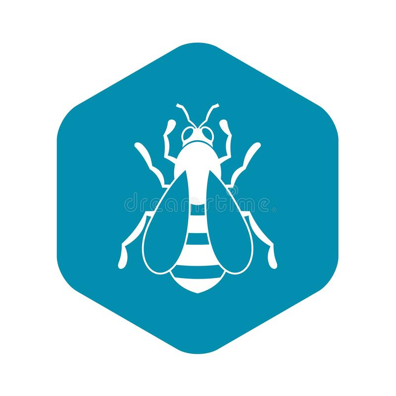 Bee icon, simple style vector illustration