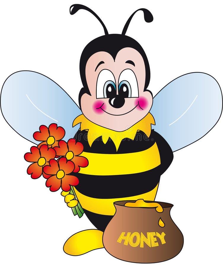 Прикольные картинки цветов с пчелами
