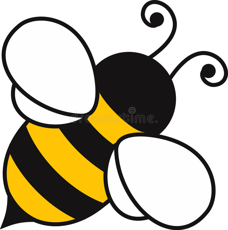 Bee. Illustration of a Cute stylized bee isolated on white background, avaliable Vector format