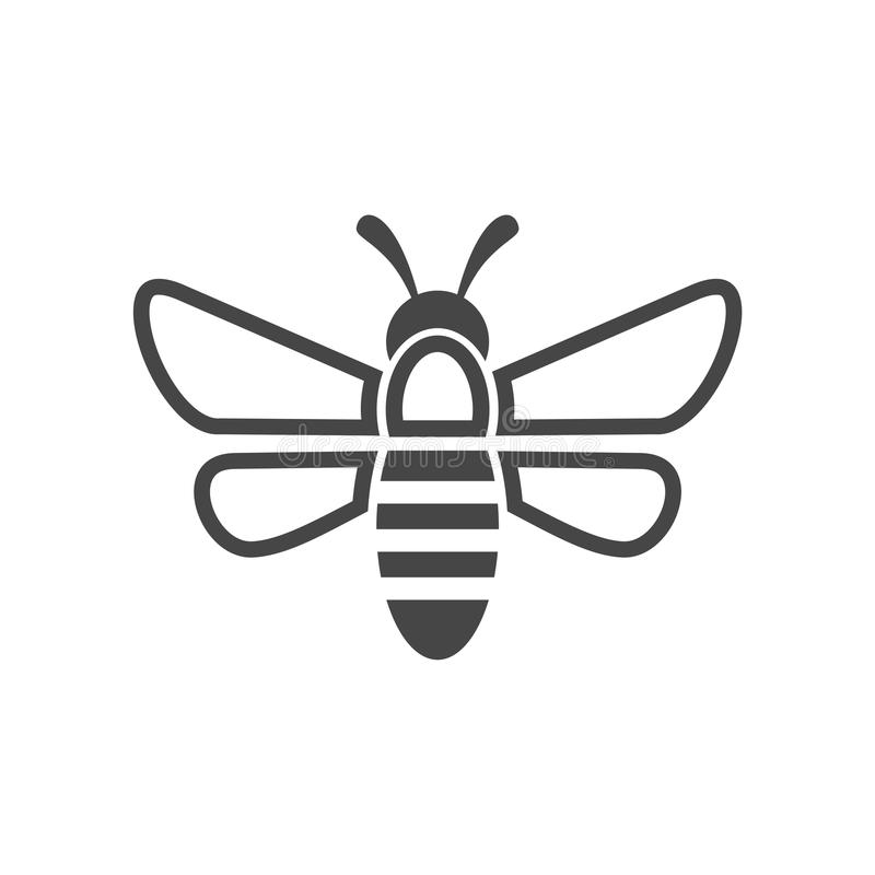 Bee Logo Sign Icon stock illustration