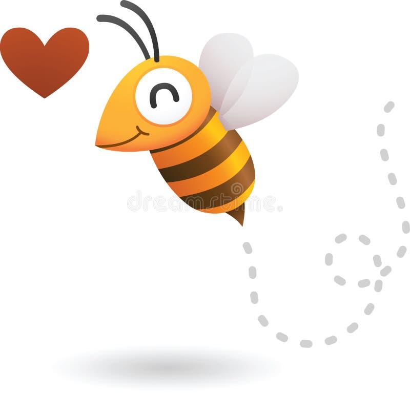 Bee in love stock illustration