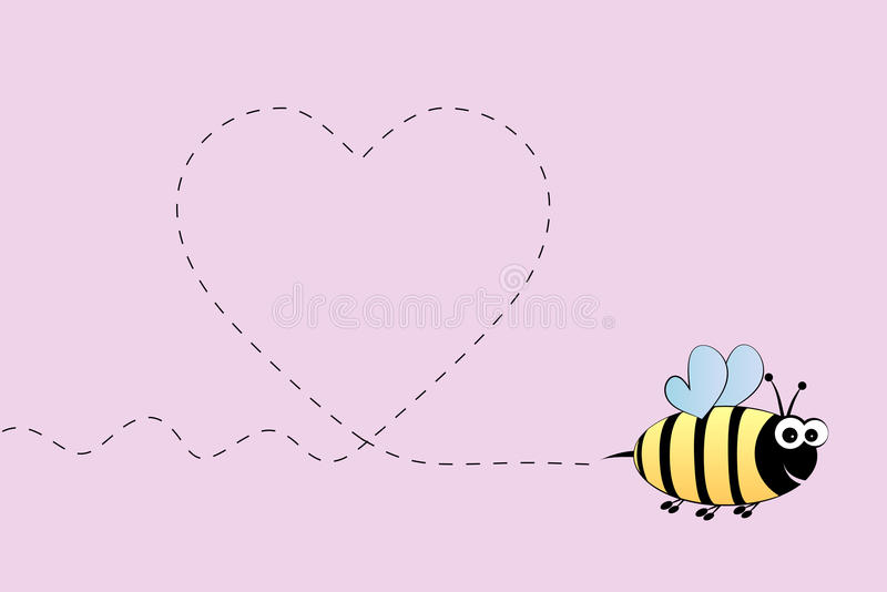 Bee In Love Royalty Free Stock Image
