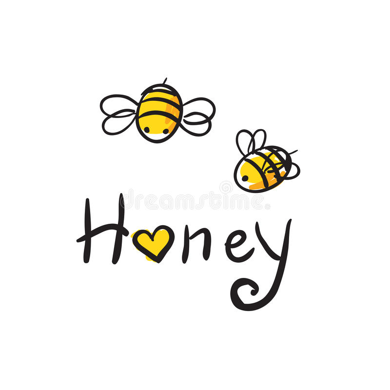 Bee Love honey royalty free stock photo