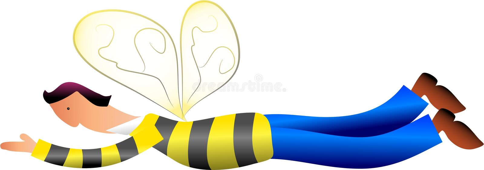Download Bee Man stock illustration. Illustration of working, stripey - 106661