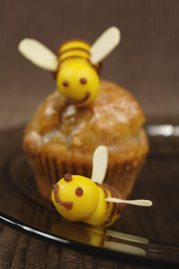 Bee Muffin Royalty Free Stock Images