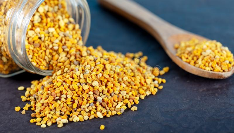 Bee pollen grains royalty free stock image