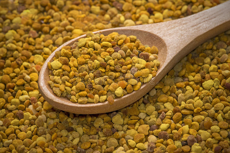 Bee pollen royalty free stock photography