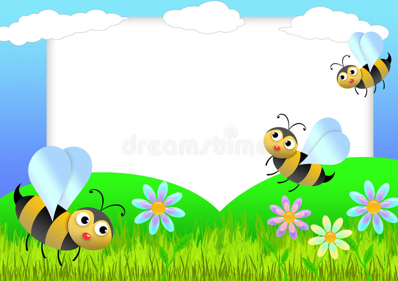 Bee scrapbook stock illustration