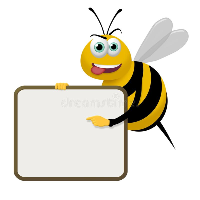 Download Bee Sign stock illustration. Image of frame, drawn, bugs - 29598545