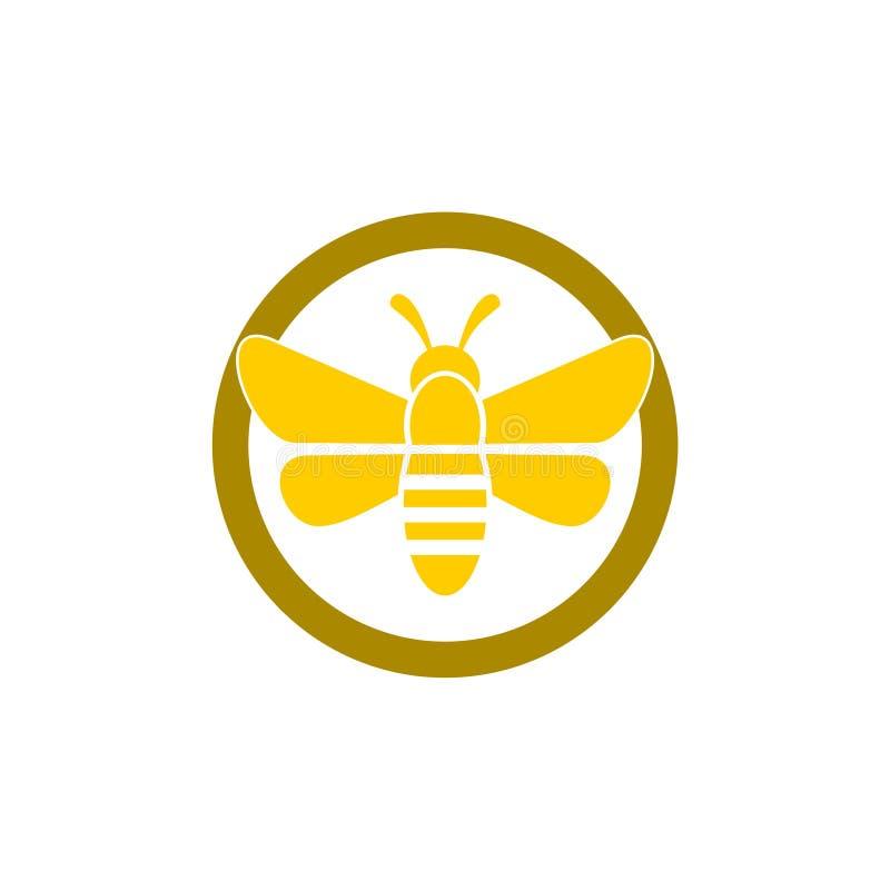 Bee Farm Labels Set: Organic Farming Symbol With Honeybee Stock Vector