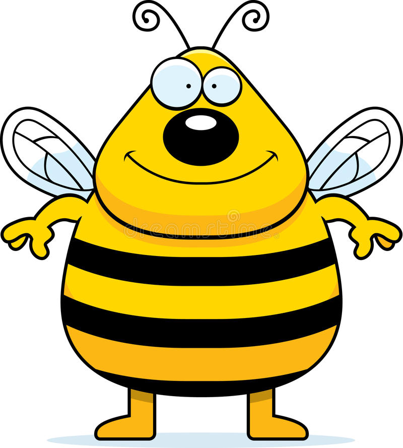 Download Bee Smiling stock vector. Image of happy, illustration - 13689093