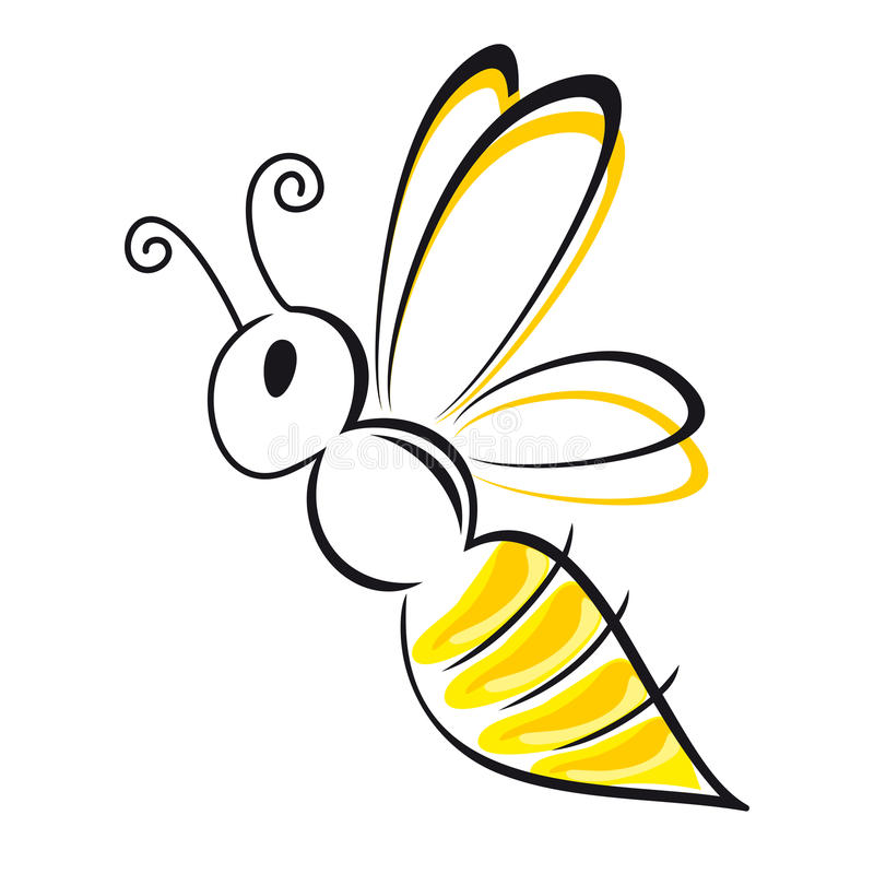Free Bee Stylized Royalty Free Stock Photography - 30187067