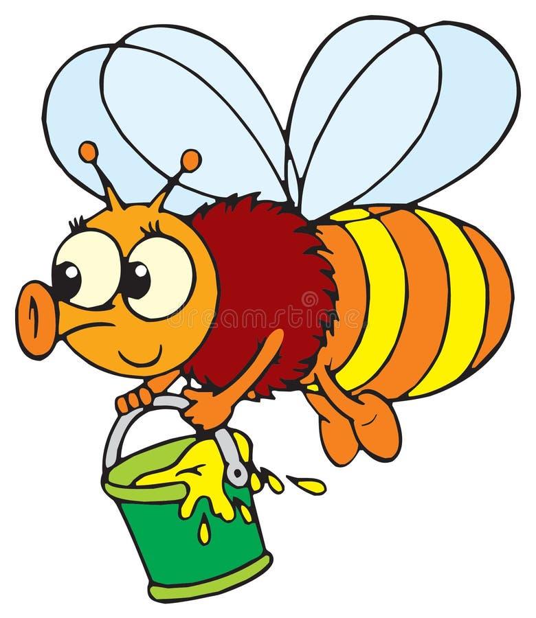 Bee (vector clip-art) vector illustration