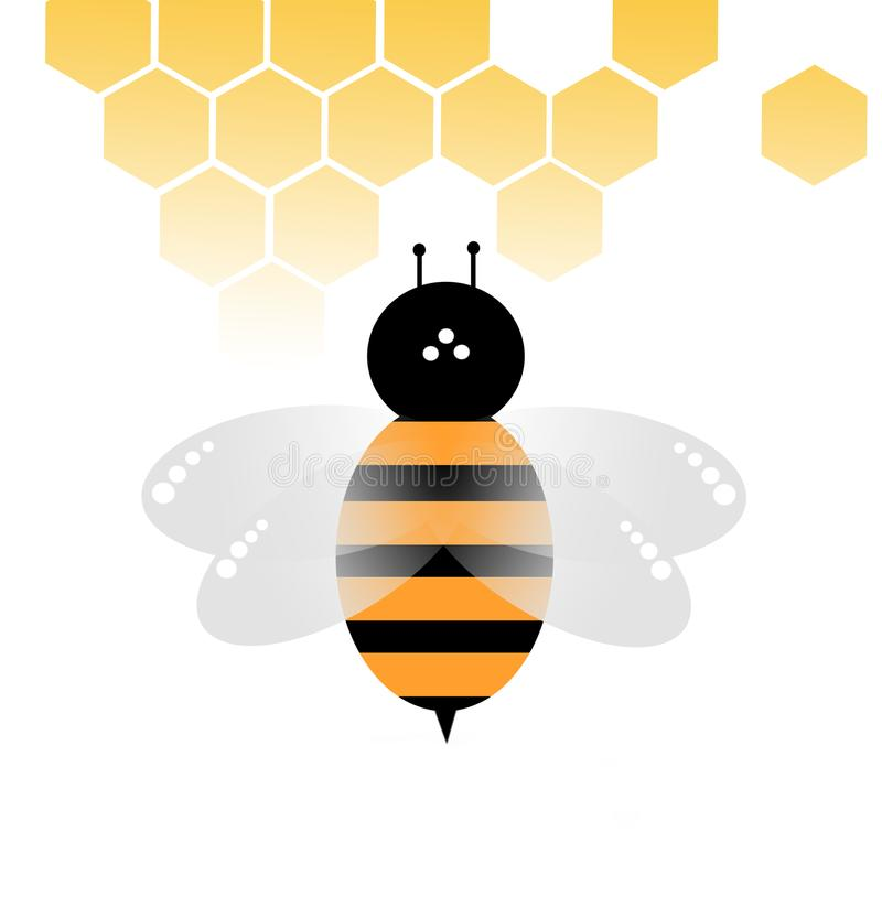 Bee vector on white background stock photography