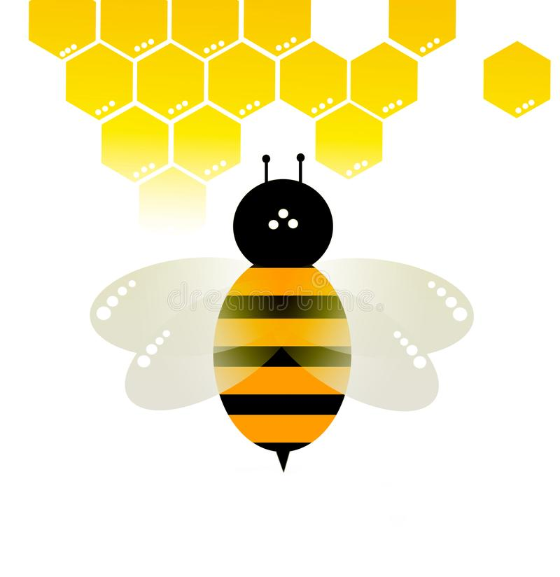 Bee vector on white background stock photo