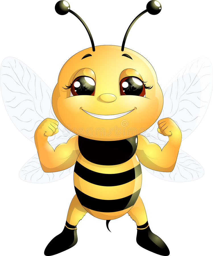 Bee on a white background vector illustration