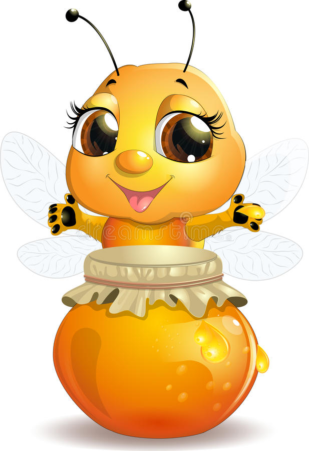 Bee on a white background royalty free illustration