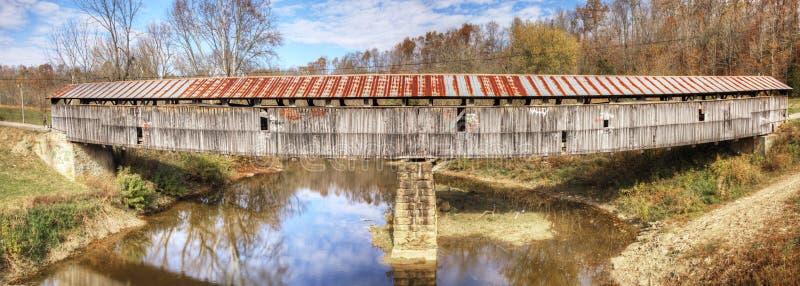 Beech Fork Covered Bridge in Kentucky stock photo