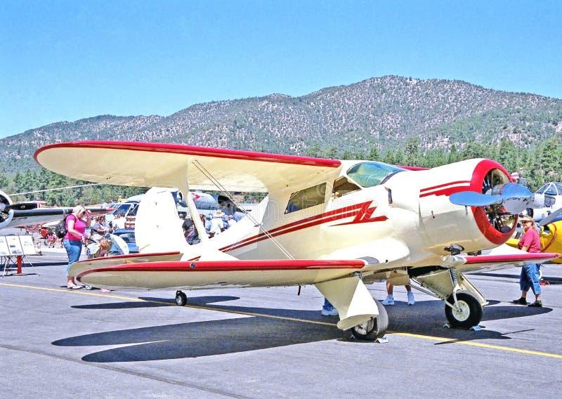 Beechcraft Staggerwing royalty-vrije stock foto's